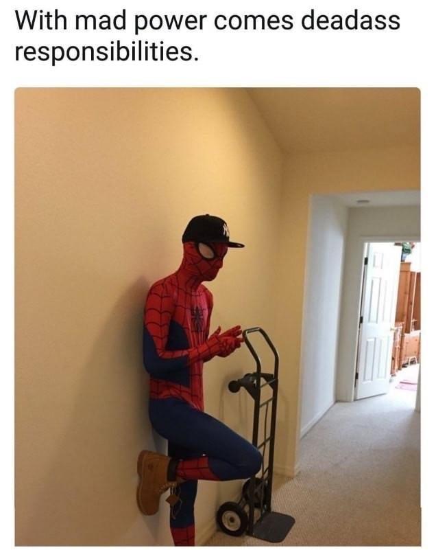 Spiderman deliveryman meme
