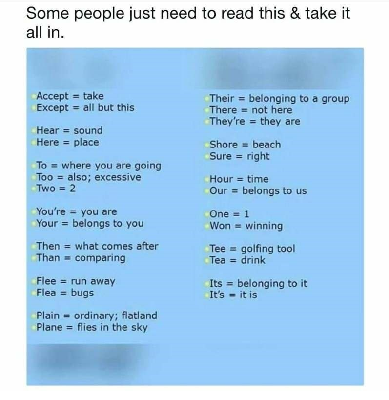 Nerd rage meme about how to properly use a variety of words.