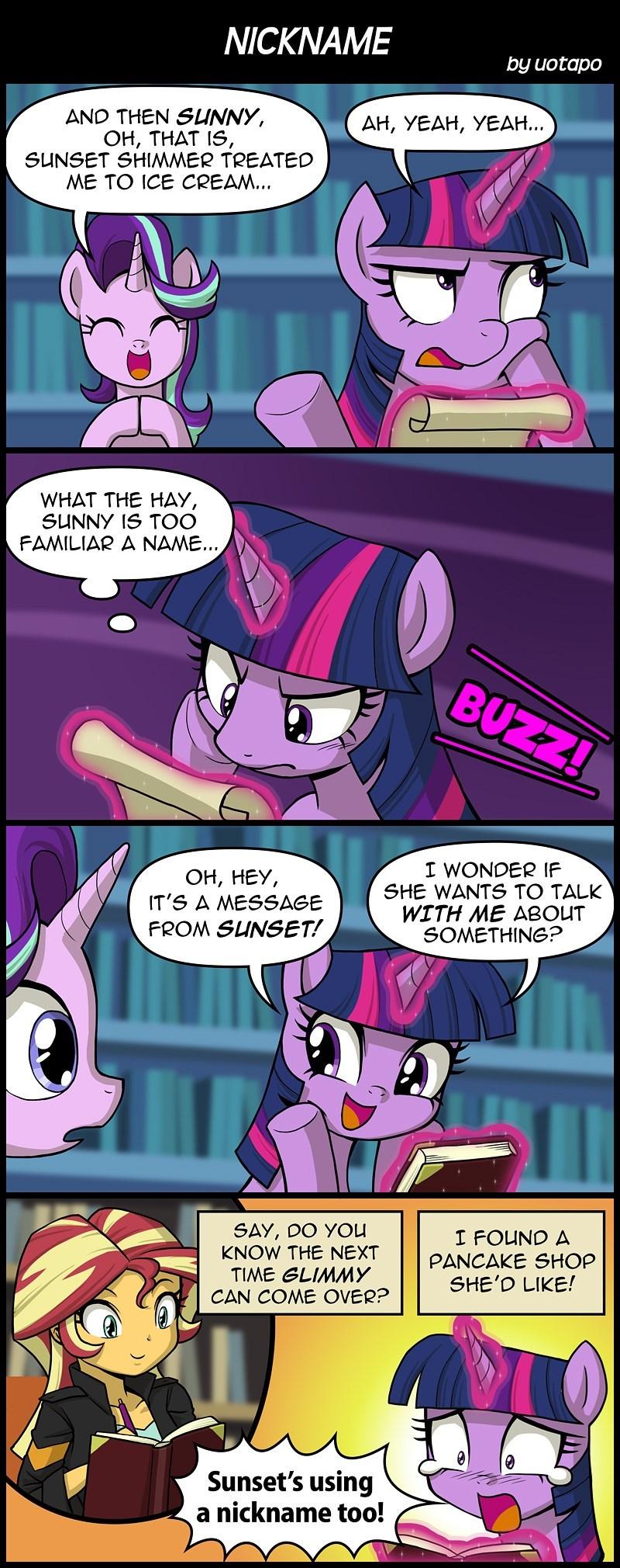 equestria girls starlight glimmer twilight sparkle mirror magic uotapo comic sunset shimmer - 9059562496