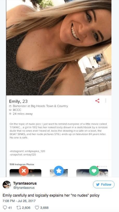 Tinder photos naked