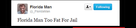 Florida man is too fat for jail