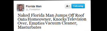 Florida man jumps off a roof onto the homeowner