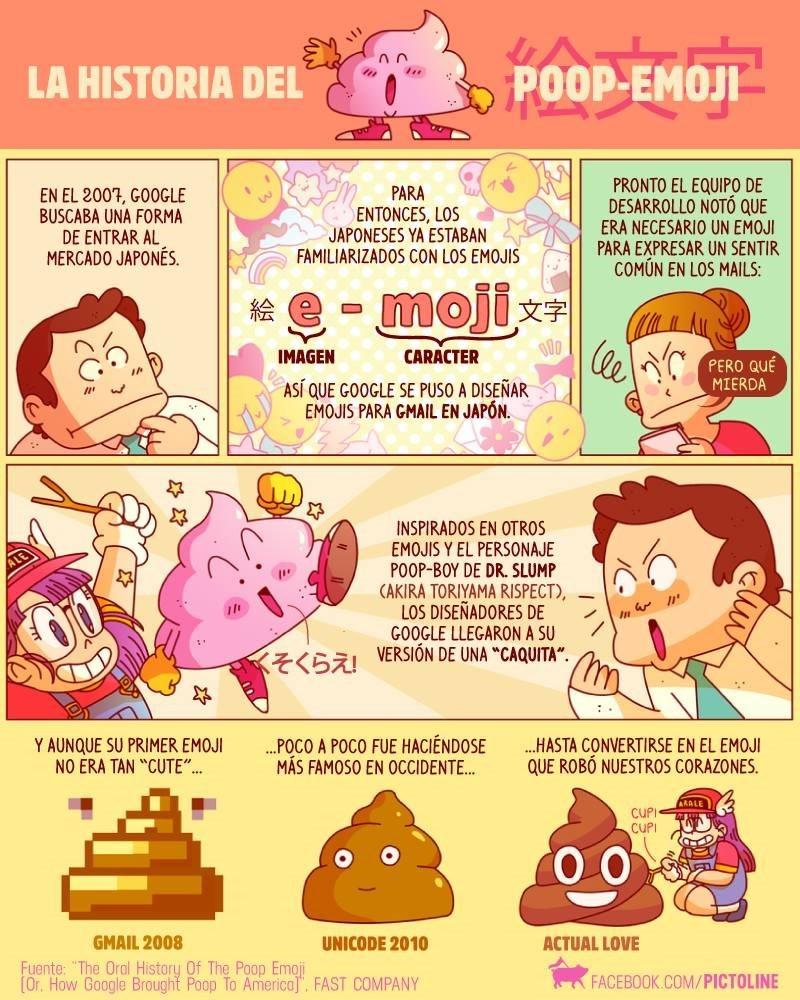 la historia del emoji de mierda