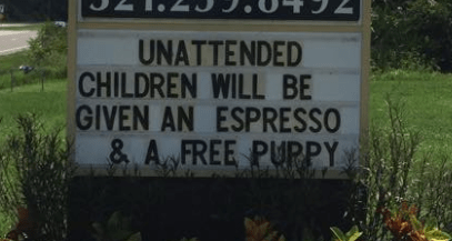 Nature - UNATTENDED CHILDREN WILL BE GIVEN AN ESPRESSO & A FREE PUPPY