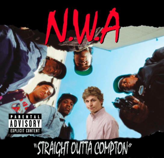"Poster - NWA PARENTAL ADVISORY EXPLICIT CONTENT ""STRAIGHT OUTTA COMPTON"""
