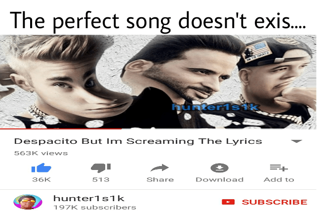 Dank memes about the prefect song doesn't exist