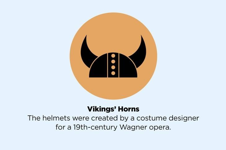 Logo - Vikings' Horns The helmets were created by a costume designer for a 19th-century Wagner opera.