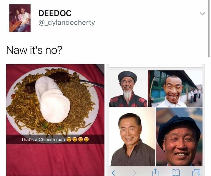 picture of rice next to google pictures of chinese man funny scottish posts on twitter
