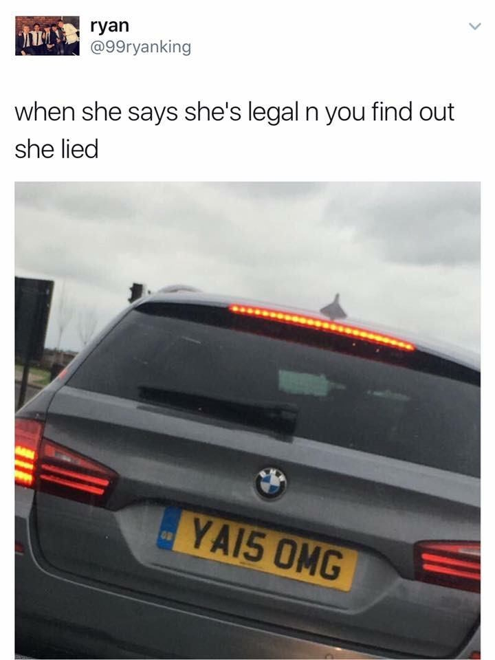 funny scottish posts on twitter when she says she's legal n you find out she lied YA15 OMG