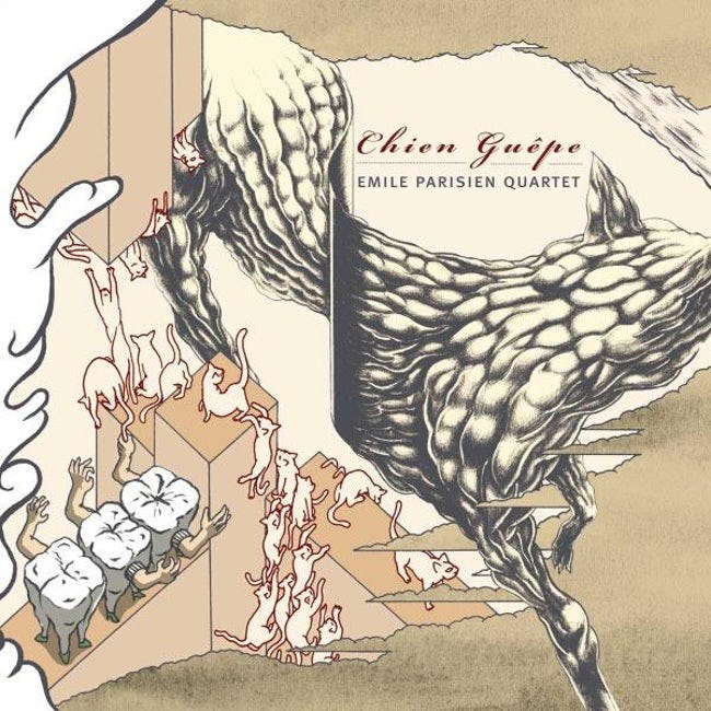 album cover - Illustration - ehien Guipe EMILE PARISIEN QUARTET