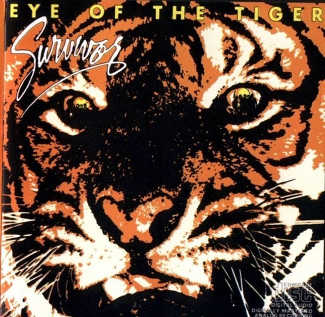 album cover - Bengal tiger - E Y E OF T HE TNGER COMPA SC DIGLDIO DIG LY MA D ANALOG RECO NG
