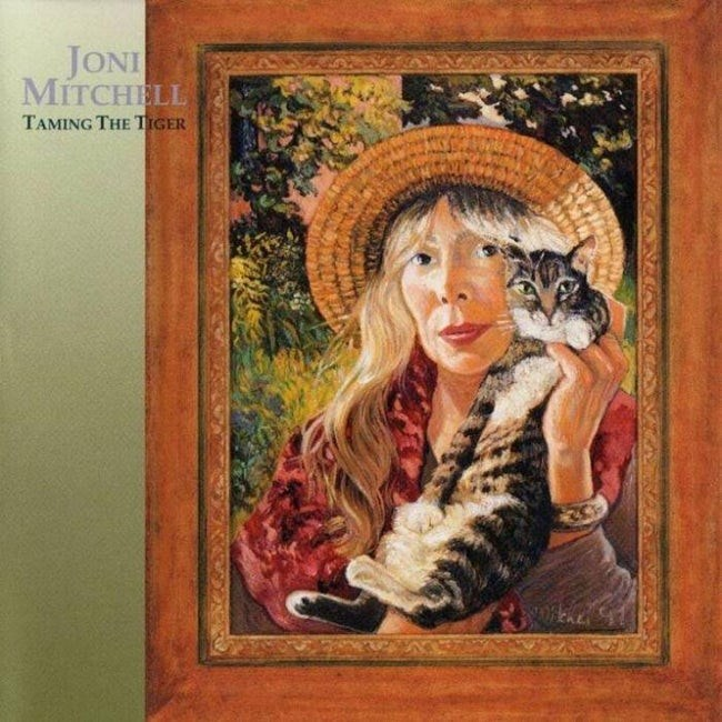 album cover - Painting - JONI MITCHELL TAMING THE TIGER