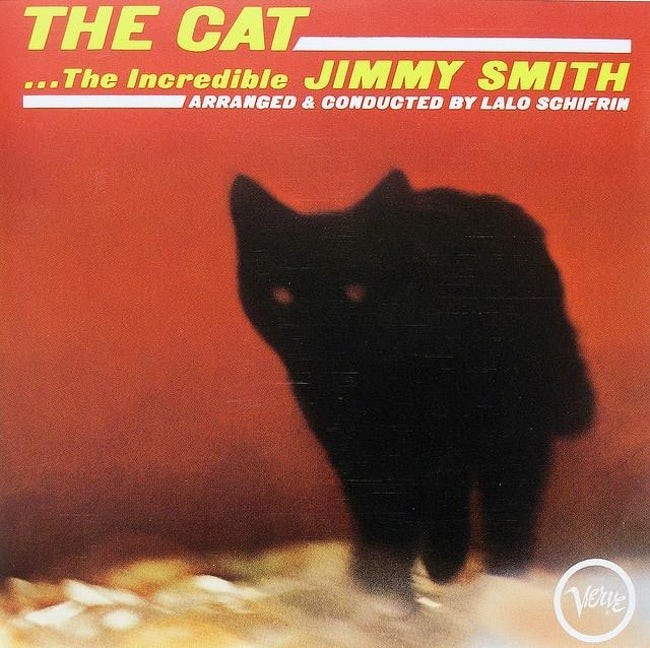 album cover - Cat - THE CAT ...The Incredible JIMMY SMITH ARRANGED &CONDUCTED BY LALO SCHIFRIN Velue
