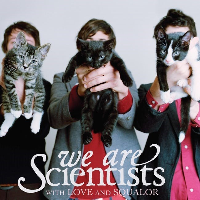 album cover - Cat - we are cientists S WITH LOVE AND SOUALOR