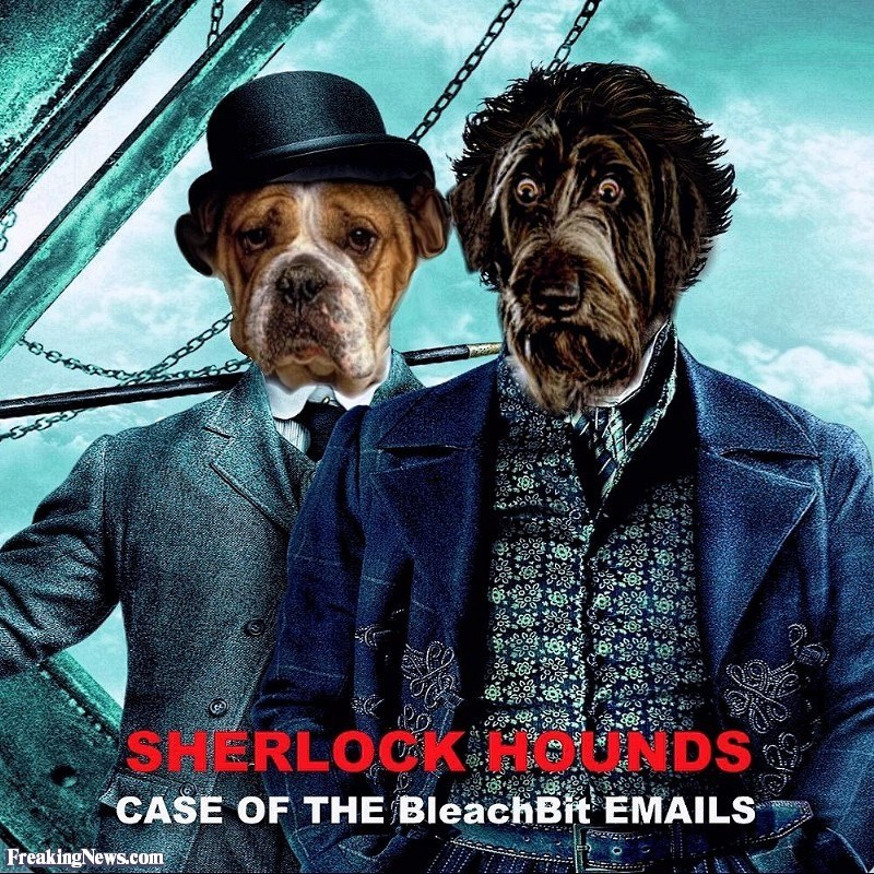 Dog - SHERLOCKHOUNDS CASE OF THE BleachBit EMAILS Freaking News.com