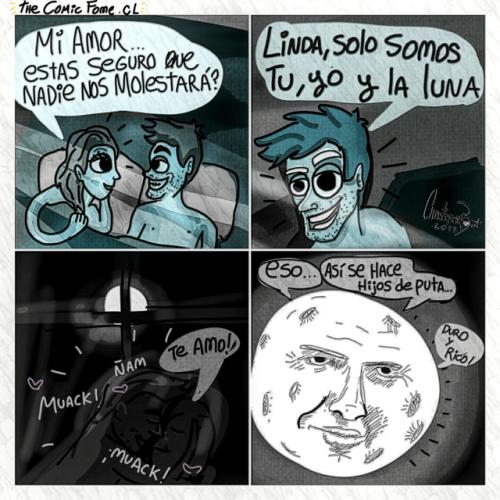 cuando estas en un momento romantico tu pareja tu y la luna