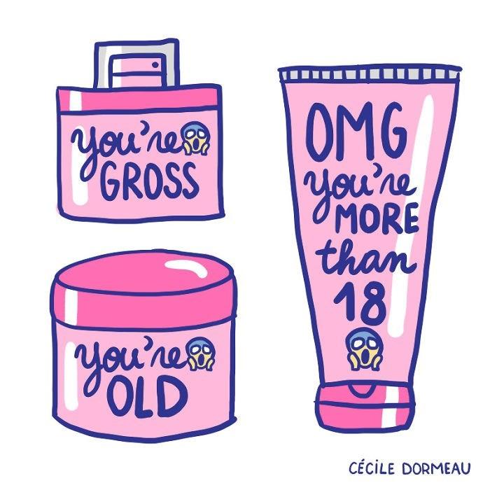 Clip art - OMG GROSS MORE than 18 you'rea OLD CÉCILE DORMEAU