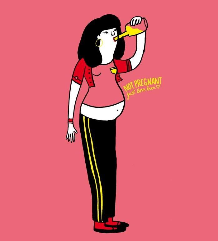 Cartoon - NOT PREGNANT just Reve leer