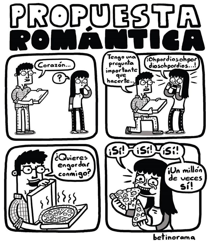chico se hinca y le propone a su novia comer pizza de por vida
