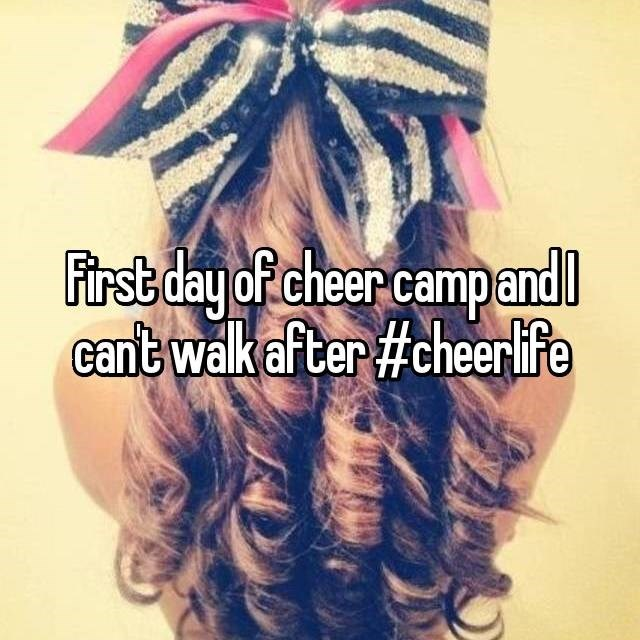 Hair - First day of cheer campand cant walk af ter #cheerife