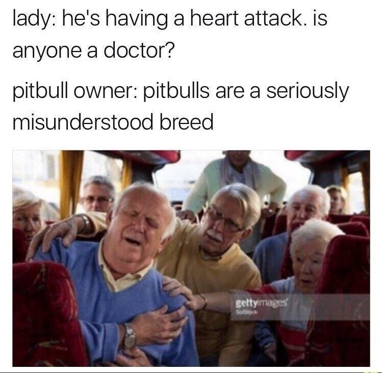 Funny meme about pitbull owners.