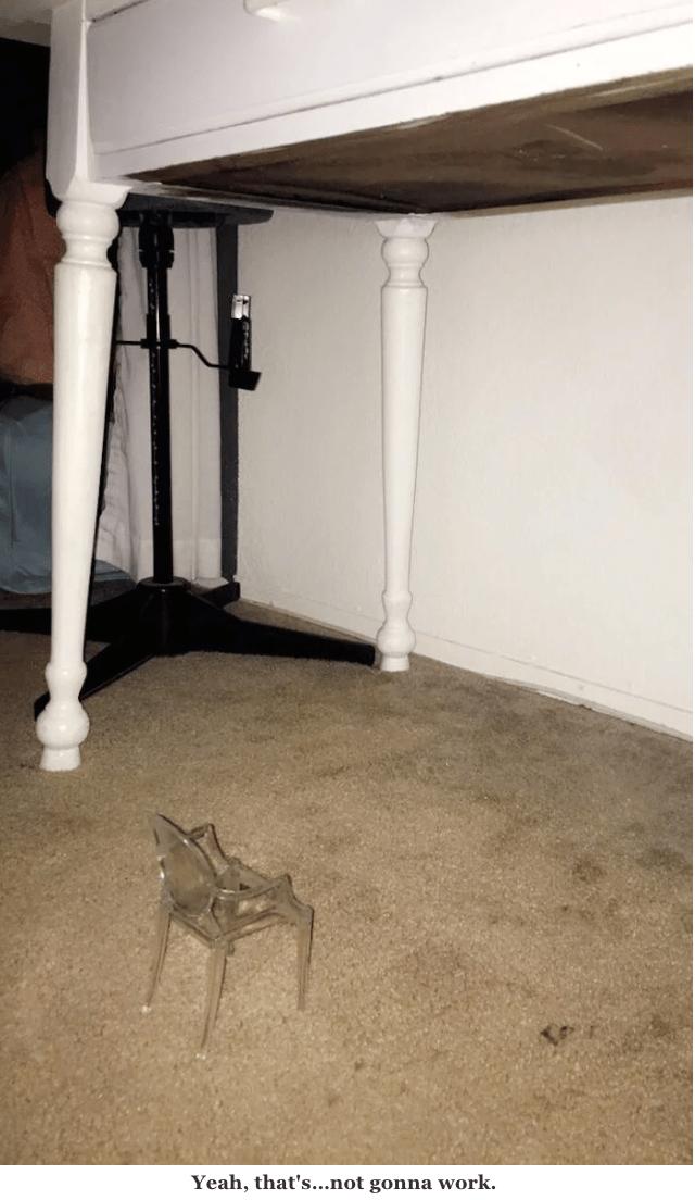 Floor - Yeah, that's...not gonna work.