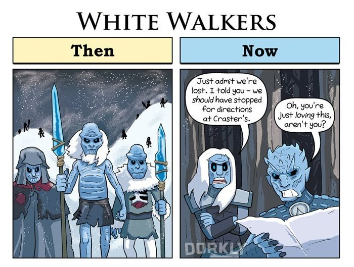 George Rottkamp comic about how the White Walkers have basically just walked in circles since the first season.