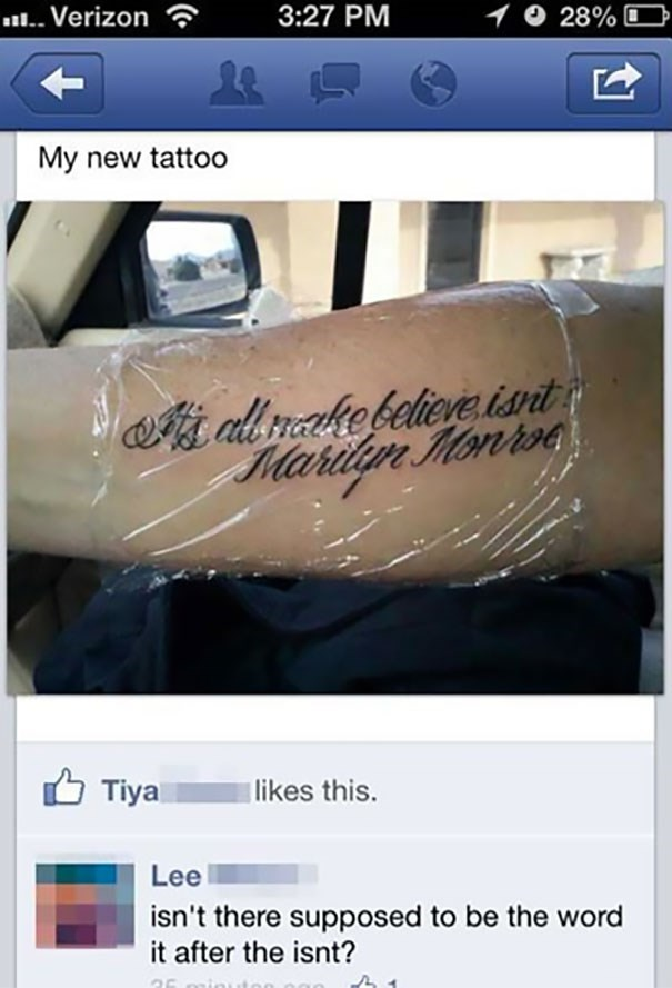 Tattoo missing a word