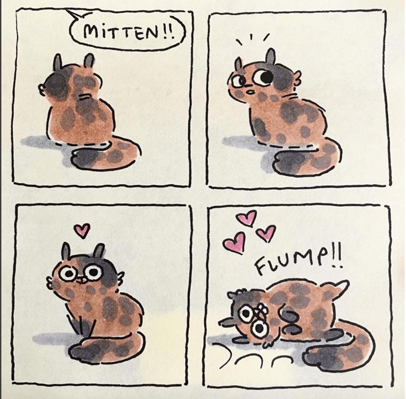 Cartoon - MiTTEN! FLUMP!!