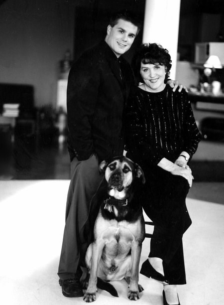 Gene Roddenberry, the creator of Star Trek and his wife Majel Barrett-Roddenberry and one of their dogs to which $4 million was left to.