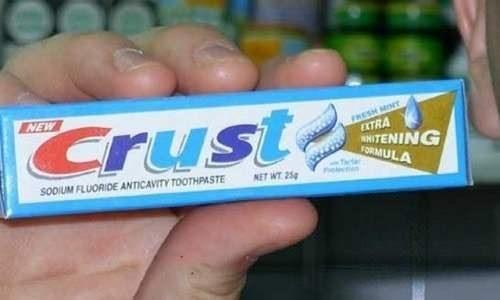 bootleg - Chewing gum - NEW Crust FRESH MIN EXTRA wNITENING FORMULA SODIUM FLUORIDE ANTICAVITY TOOTHPASTE NET WT 25