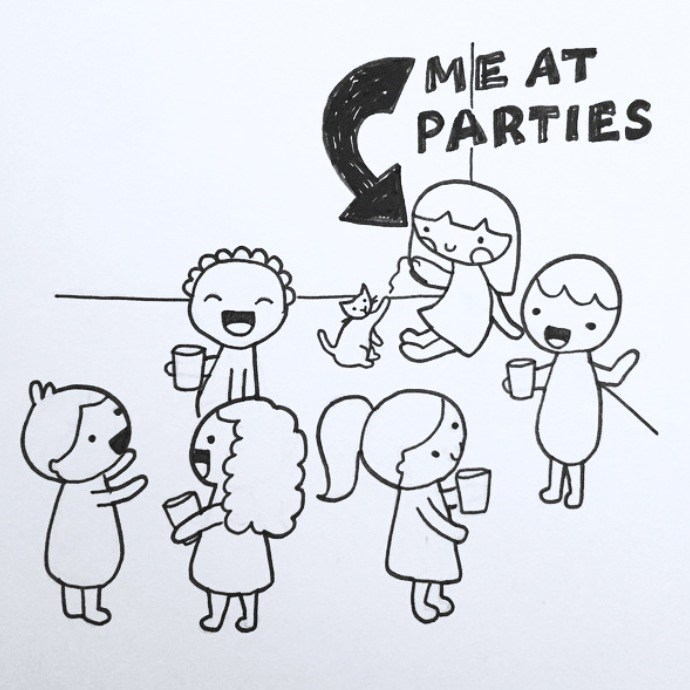 White - ME AT PARTIES
