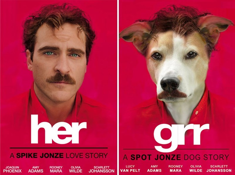 woman photoshops her adorable dog into movie posters and it s