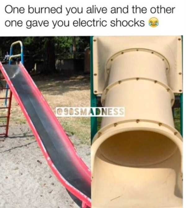 Playground - One burned you alive and the other one gave you electric shocks @9OSMADNESS