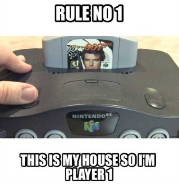 Gadget - RULE NO1 NINTENDO4 THIS IS MY HOUSESO IM PLAYER 1