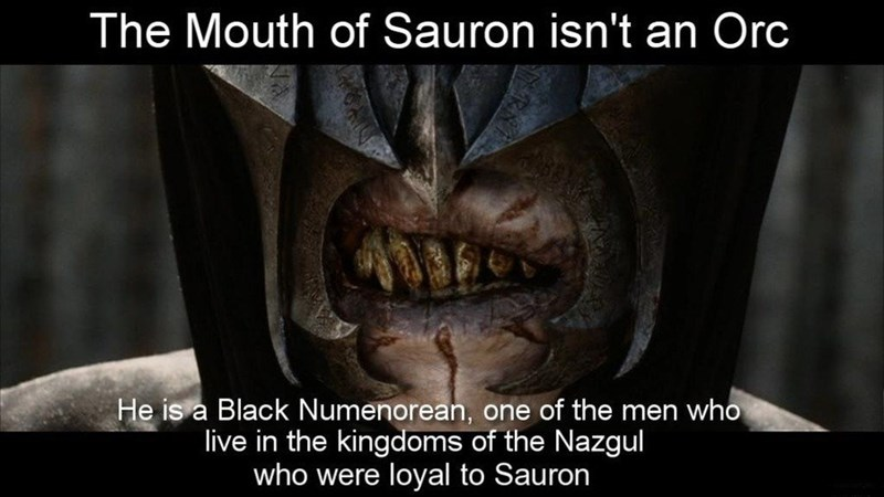 Mouth - The Mouth of Sauron isn't an Orc He is a Black Numenorean, one of the men who live in the kingdoms of the Nazgul who were loyal to Sauron