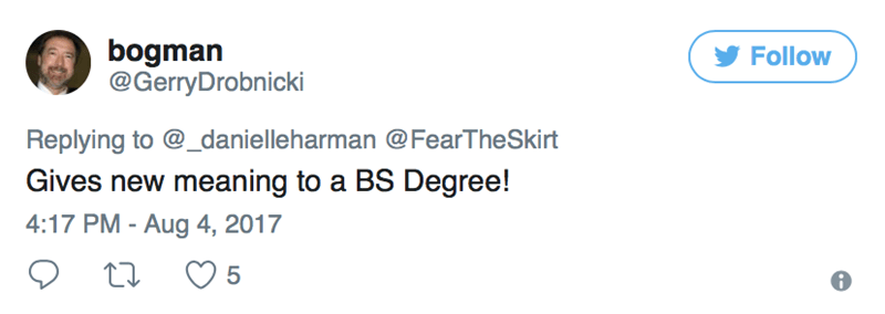 tweet about bs degree