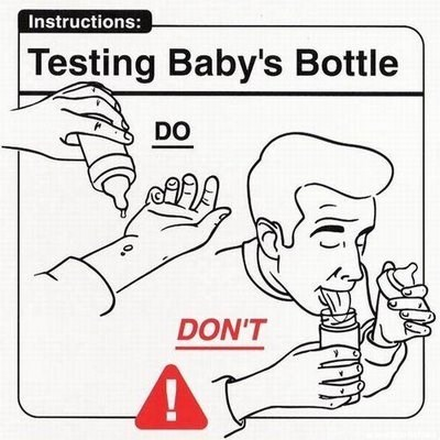 parenting manual - White - Instructions: Testing Baby's Bottle DO DON'T