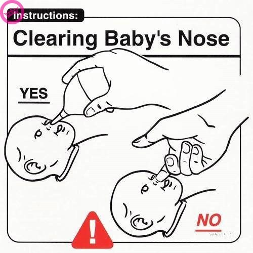 parenting manual - White - instructions: Clearing Baby's Nose YES e NO webpark.ru