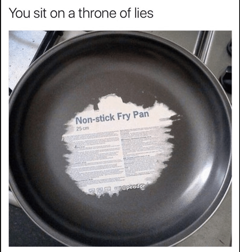 Rim - You sit on a throne of lies Non-stick Fry Pan 25 cm FOE @peador