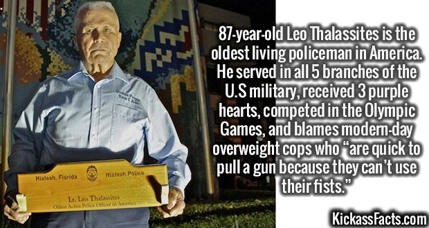 Fact about the oldest living policeman in the US
