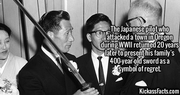 Fact about a Japanese pilot visiting the US after WWII