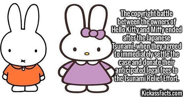 Fact about the legal battle between Miffy and Hello Kitty