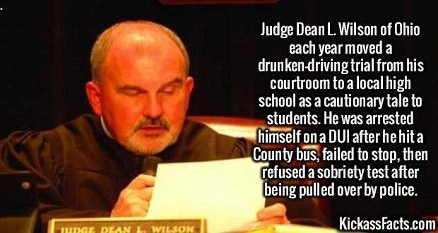 Fact about a judge who got caught drunk driving