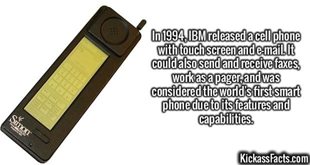 Fact about the first smartphone being made by IBM
