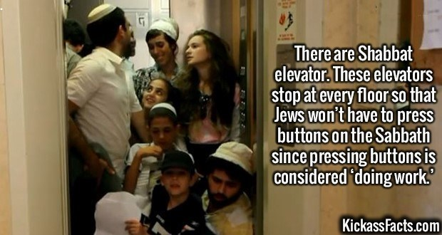 Fact about special Shabbat elevators that stop at every floor