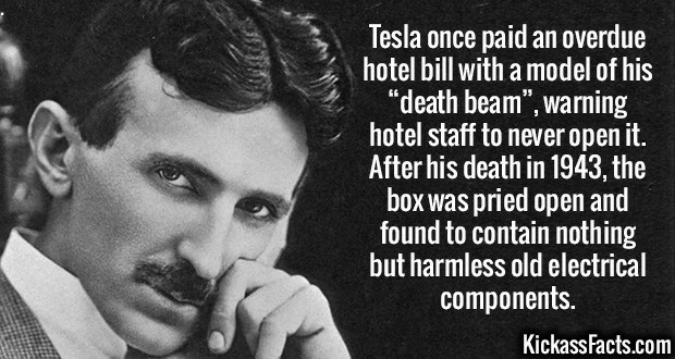 Fact about Tesla scamming a hotel