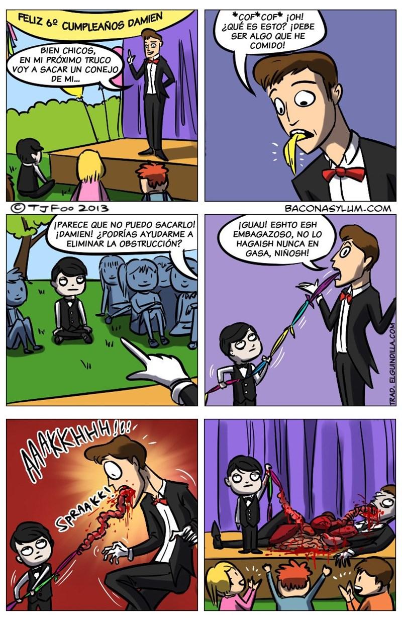 truco del mago que sale terriblemente mal