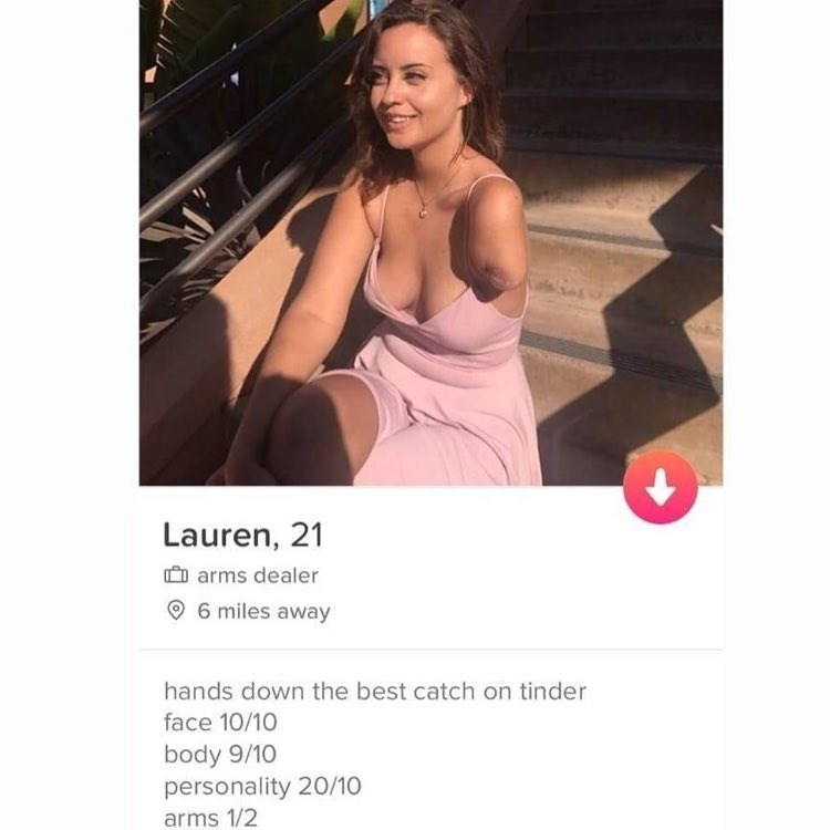 Funny Tinder profile meme.