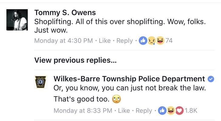 Police on facebook